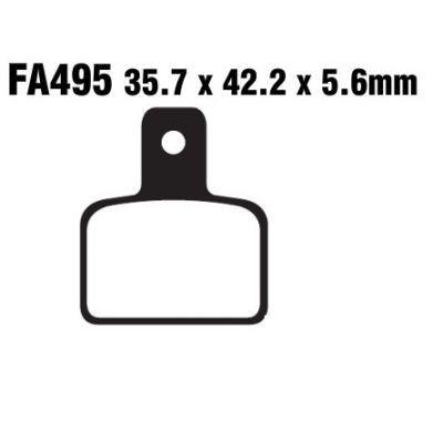 Тормозные колодки EBC FA495 для мотоциклов Beta Evo 125 2009-2015, Beta Evo 200 2009-2015