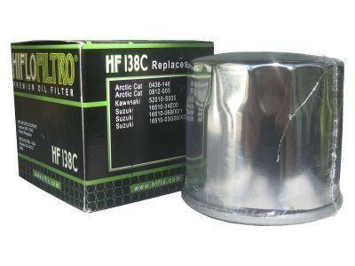 Масляный фильтр HF138C хромированный Suzuki, Aprilia