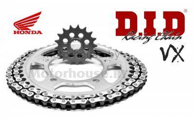Комплект цепь и звезды Honda CBR 600 F4i Sport 01-02 VX