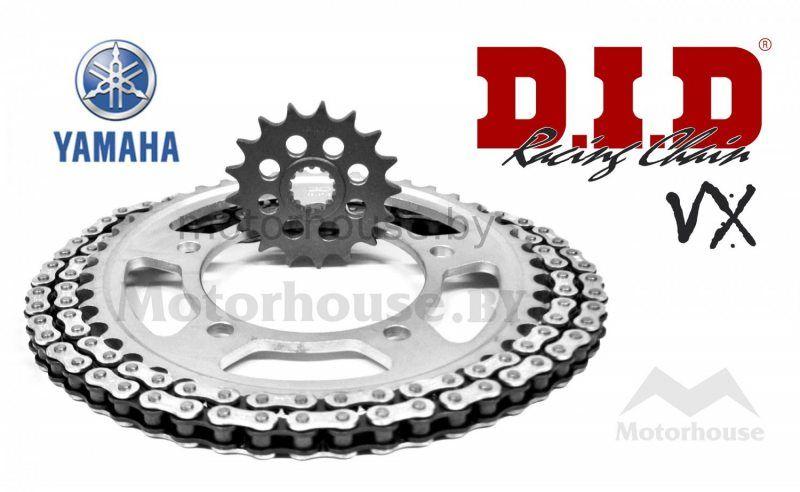 Комплект цепь и звёзды Yamaha YBR 125 07-12 VX